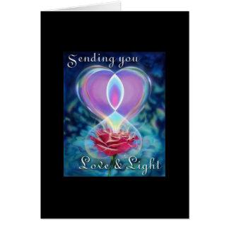 CARD- LOVE & LIGHT GREETING CARD