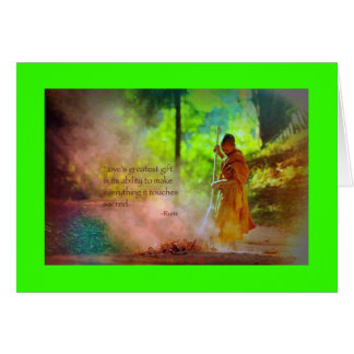 CARD-LOVE QUOTE RUMI GREETING CARD