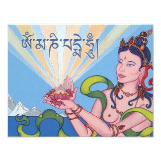 CARD Mantra OM MANI PADME HUM 11 Cm X 14 Cm Invitation Card