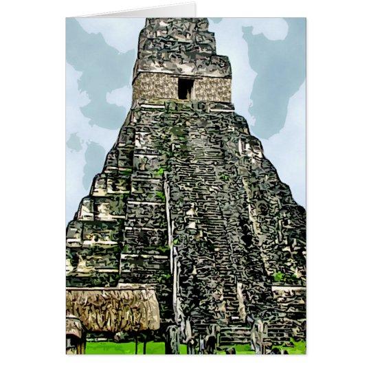 Card: Mayan Temple at Tikal, Guatemala Card
