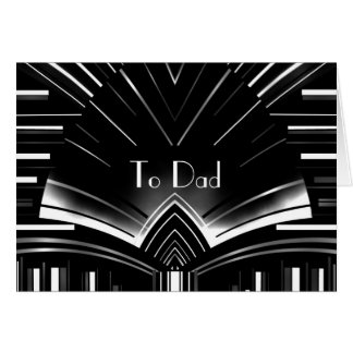 Card Mens Father To Dad Art Deco