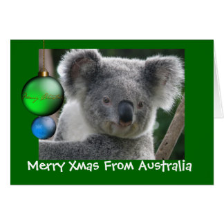 Card Merry Xmas From Australia Koala