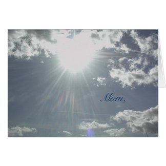 Card: Mom's heart  of love