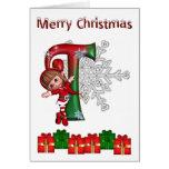 Card Monogram Christmas T