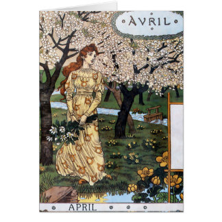 Card: Month of April - Avril Card