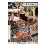 Card: Month of January - Janvier