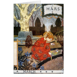 Card:  Month of March - Mars Card