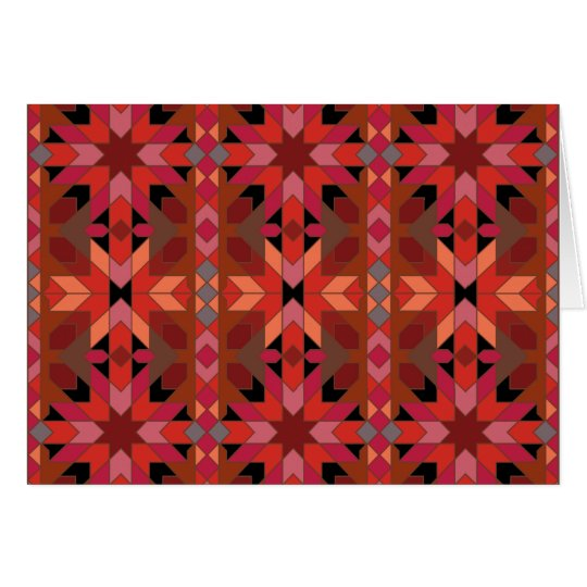 Card Morrocco red orange black
