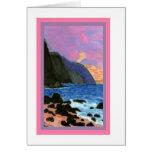 Card-NaPali Sunset, Kauai, Hawaii Note Card