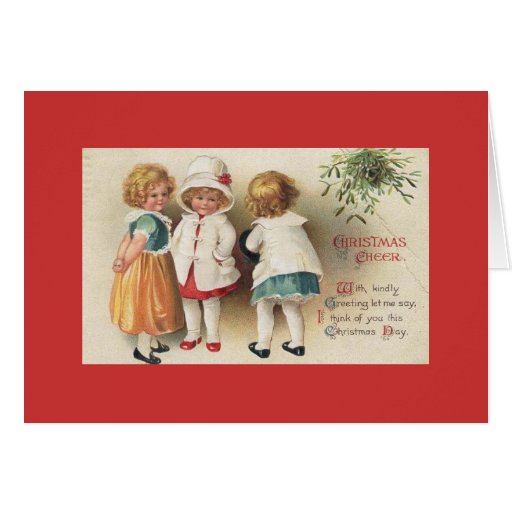 Card/Note Card -Vintage Little Girls at Christmas | Zazzle: www.zazzle.co.uk/card_note_card_vintage_little_girls_at_christmas...