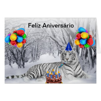 Card of Anniversary White Tiger