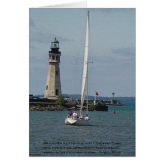 Card of Encouragement & Support-Buffalo Lighthouse