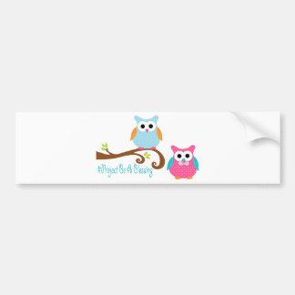 Card Owls Bumper Sticker