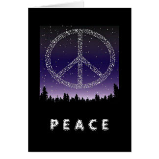 CARD- PEACE STARS GREETING CARD