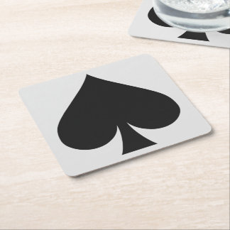 Card Player coasters - Spade
