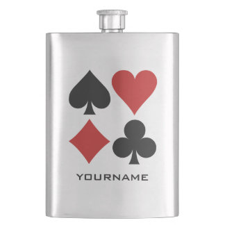 Card player custom flask