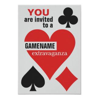 Card Player custom invitations