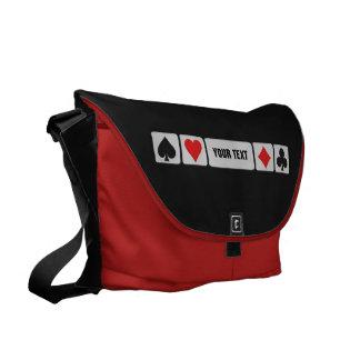 Card Player custom messenger bag (large)