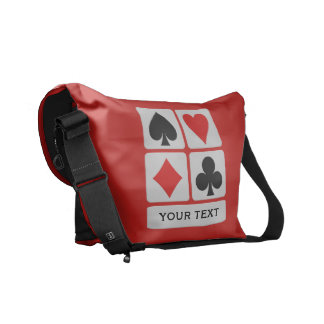 Card Player custom messenger bag (medium)