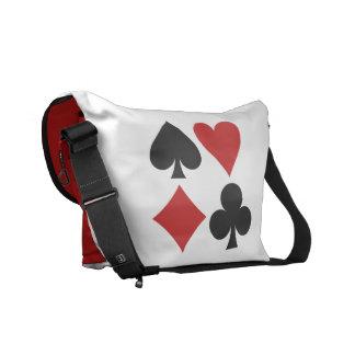 Card Player custom messenger bags