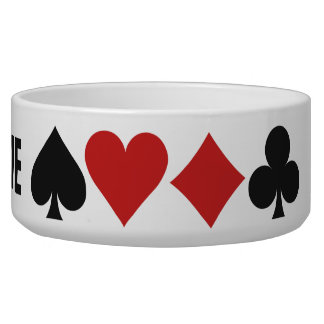 Card Player custom pet bowls