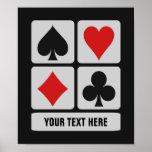 Card Player custom poster