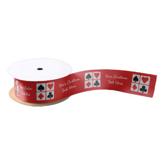 Card Player custom ribbon Satin Ribbon