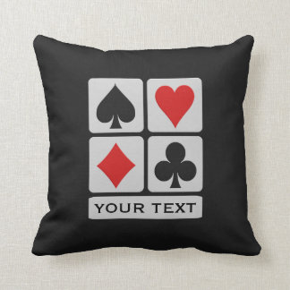 Card Player custom throw pillow