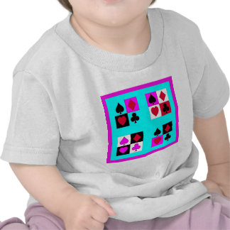 Card player in Turquoise Fushia by Sharles Shirts