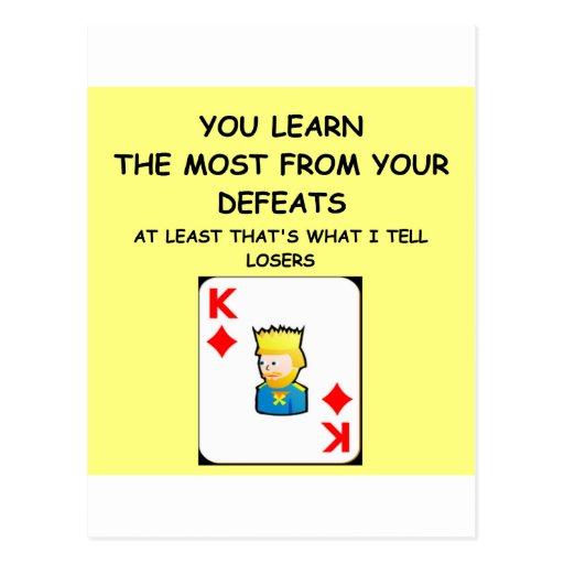 card player joke post cards