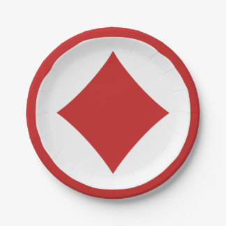 Card Player paper plates - Diamond