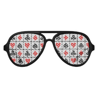 Card Player party glasses