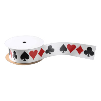Card Player ribbon Satin Ribbon