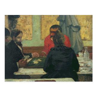 Card Players, 1883 Postcard