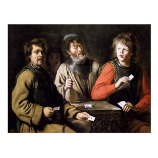 Card players by Jan Steen Postcard