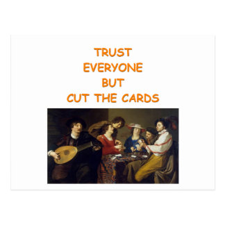 card players joke