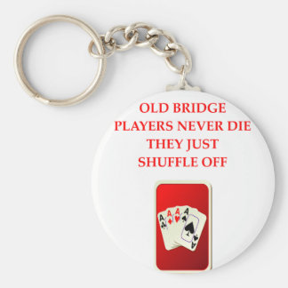 card players joke key ring