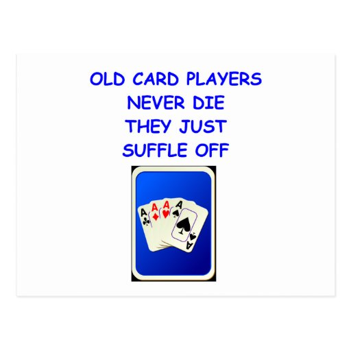 card players post card