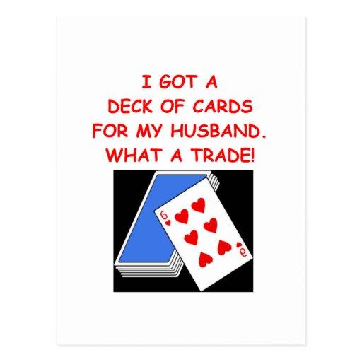 card players postcard