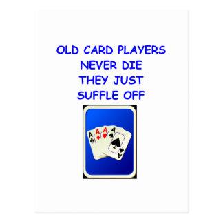 card players postcards