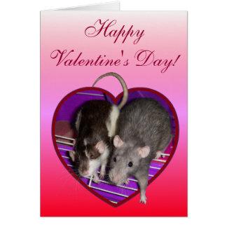 Card: Ratty Love Valentine (Pink) Card