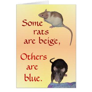 Card: Ratty Poem Card
