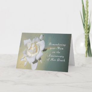 Death anniversary cards zazzle card remembering your mum on death anniversary card m4hsunfo