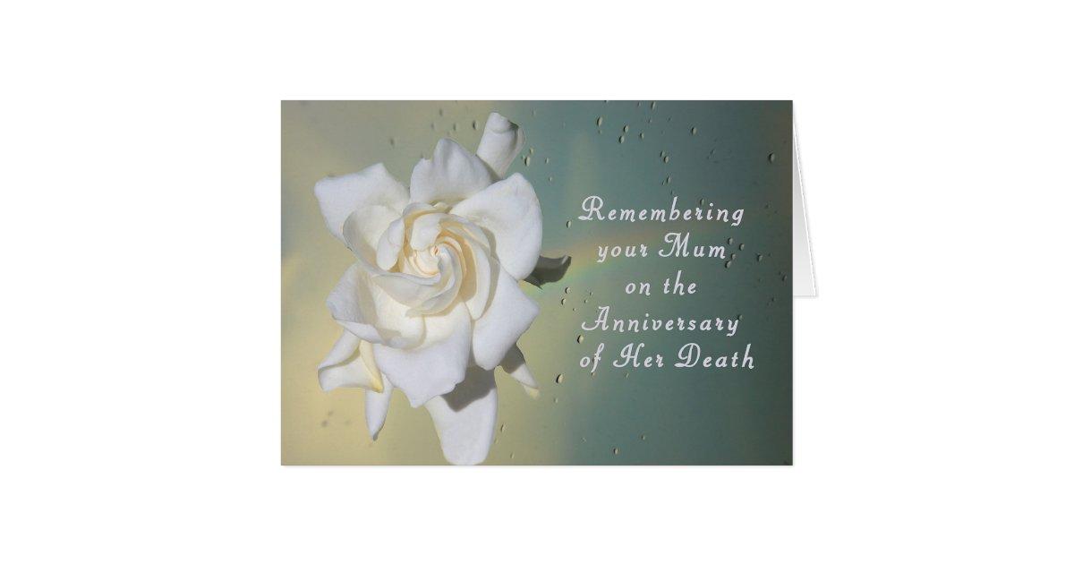 Death anniversary cards invitations zazzle card remembering your mum on death anniversary card stopboris Choice Image
