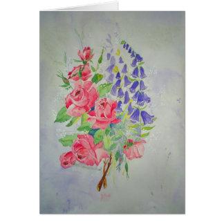 Card Roses and Digitalis