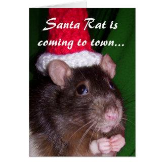 Card: Santa Rat Card