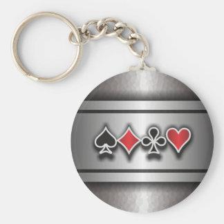 Card Sharp 1 Basic Round Button Key Ring