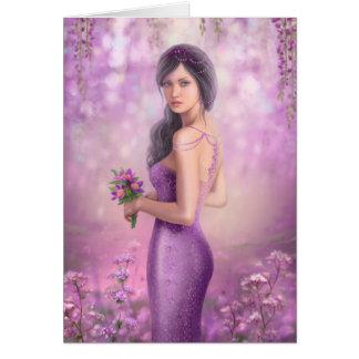Card-Spring Illustration beautiful Fantasy woman Greeting Card