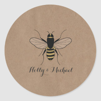 Card Stock Inspired Honey Bee Wedding Sticker