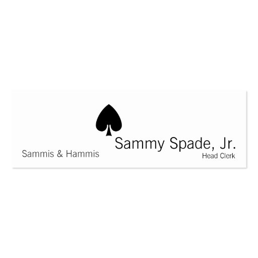 Card Suit Spades Business Card Templates